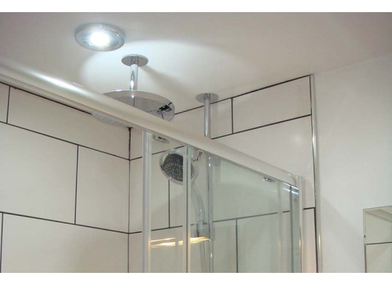 shower with light