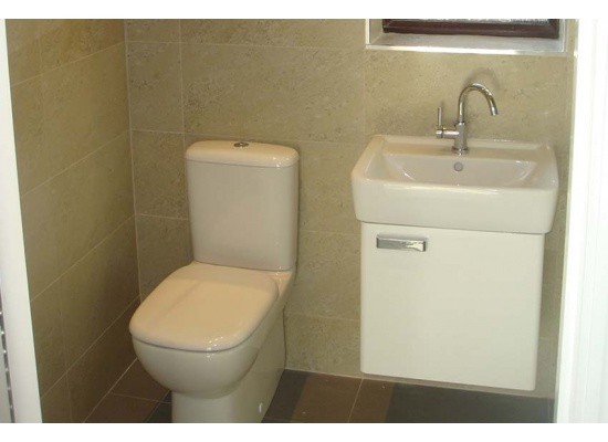 toilet and white sink