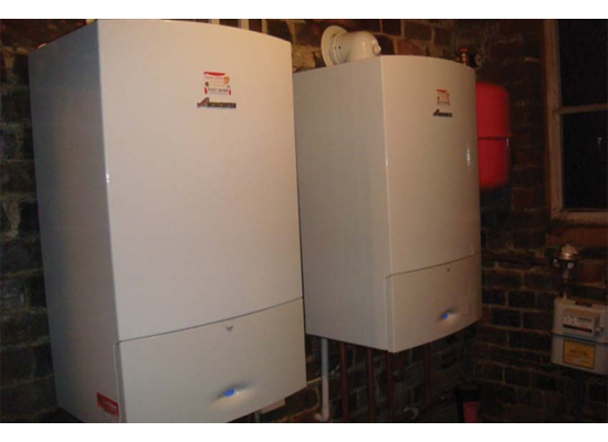 Two Worcester Bosch boilers