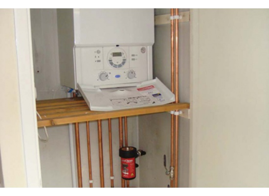 Installation of white boiler