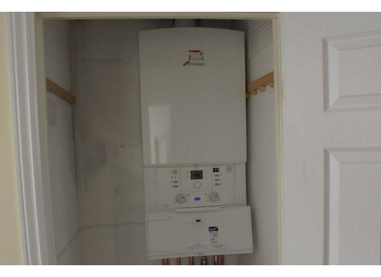 Worcester Bosch Boiler in cupboard