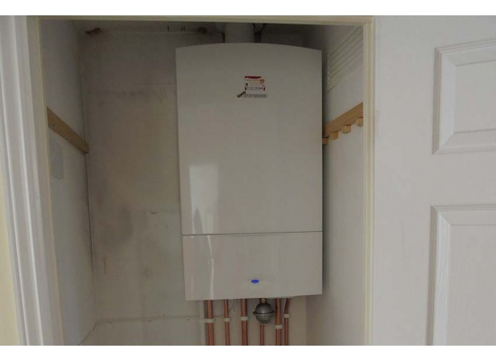 boiler in cupboard